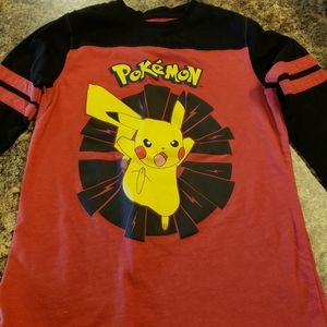 Boys Small Piccachu long sleeve shirt